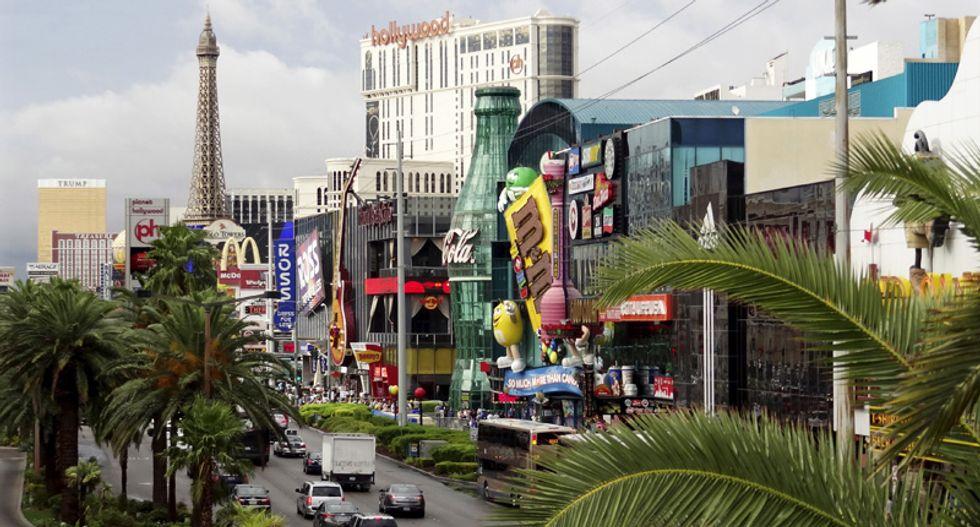 Las Vegas strip shut down as cops shoot at man pointing gun at tourists in front of Bellagio