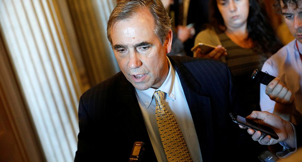 Senator talks all night as Democrats fight Trump court nominee