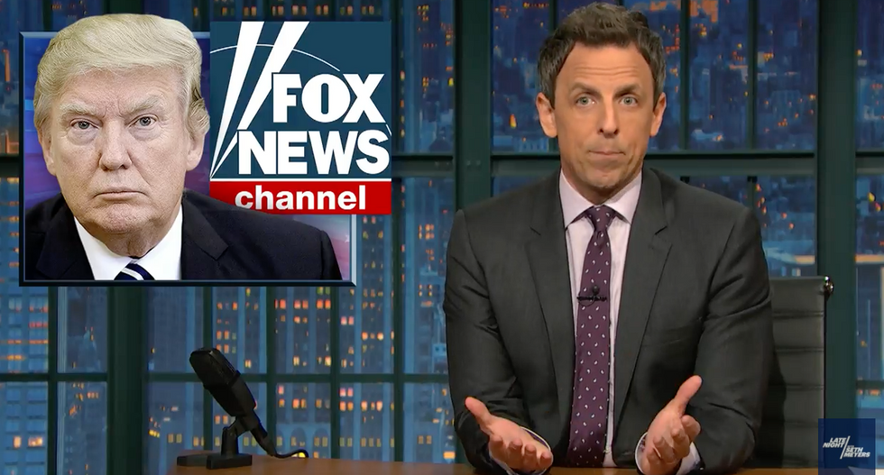 'The closest thing we have to state TV': Seth Meyers destroys Fox News' 'sycophantic coverage' of Trump