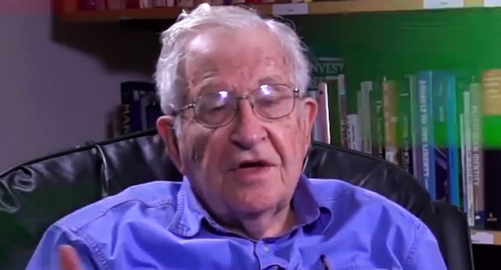 Noam Chomsky has donated to two candidates in national races -- and the first one ever was Bernie Sanders