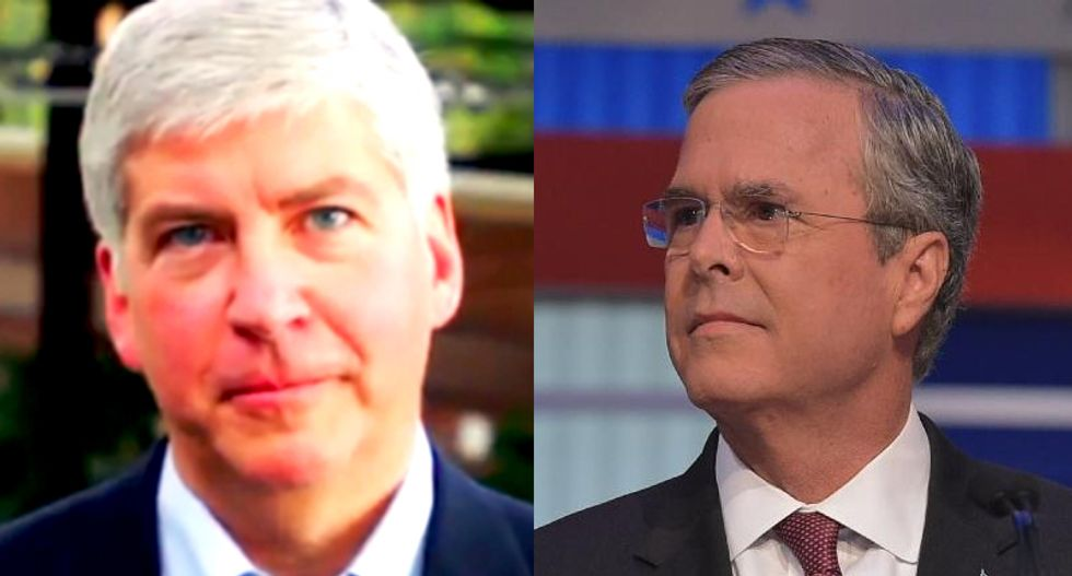 Jeb Bush praises Michigan Gov. Rick Snyder for 'stepping up' response to Flint poisoned-water crisis