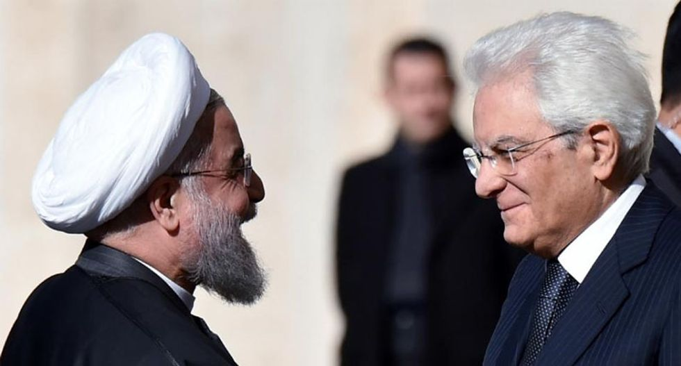 Hassan Rouhani visits Rome as Iran seeks new business deals with Europe