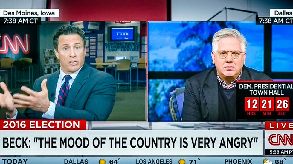 'You reap what you sow': CNN host tells Glenn Beck to suck it up after 'birthing Donald Trump'