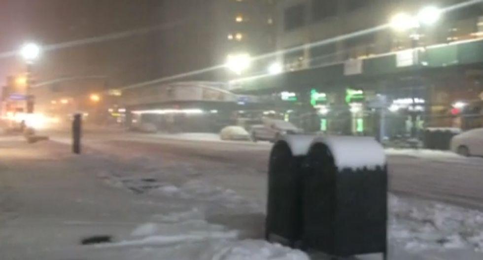 Mayor de Blasio bans all NYC travel as winter blast pummels city