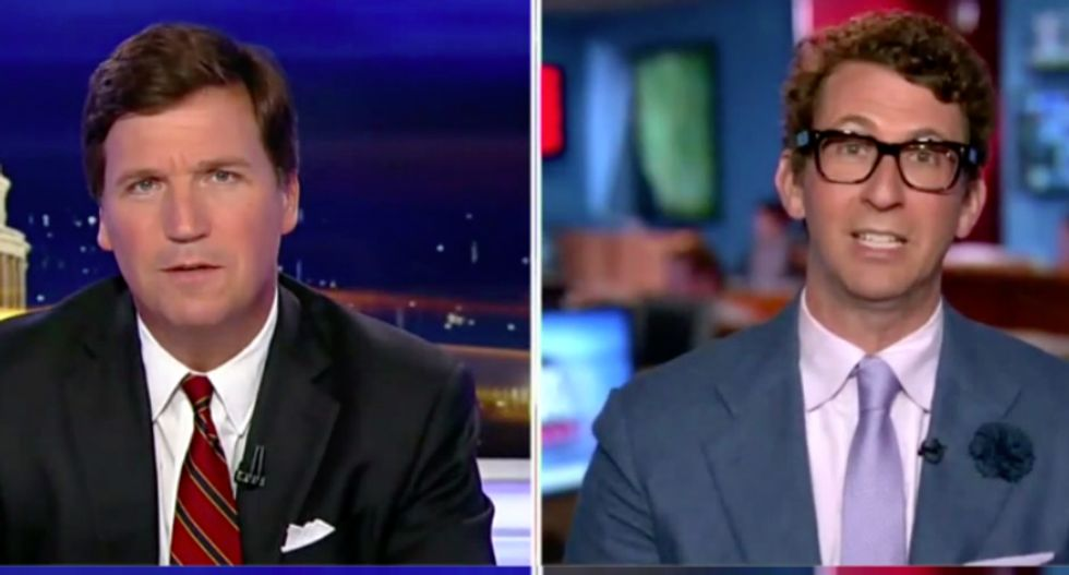 'But no one in this is gay!' Tucker Carlson has a complete meltdown over Stormy Daniels Day in West Hollywood