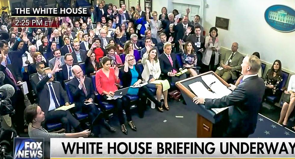 Forget Sean Spicer -- the freak show in the new White House press corps is worse
