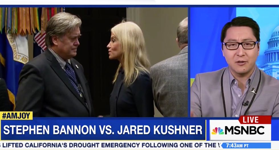WATCH: Ex-Breitbart executive warns that if Kushner forces out Bannon it will be 'open warfare' on Trump