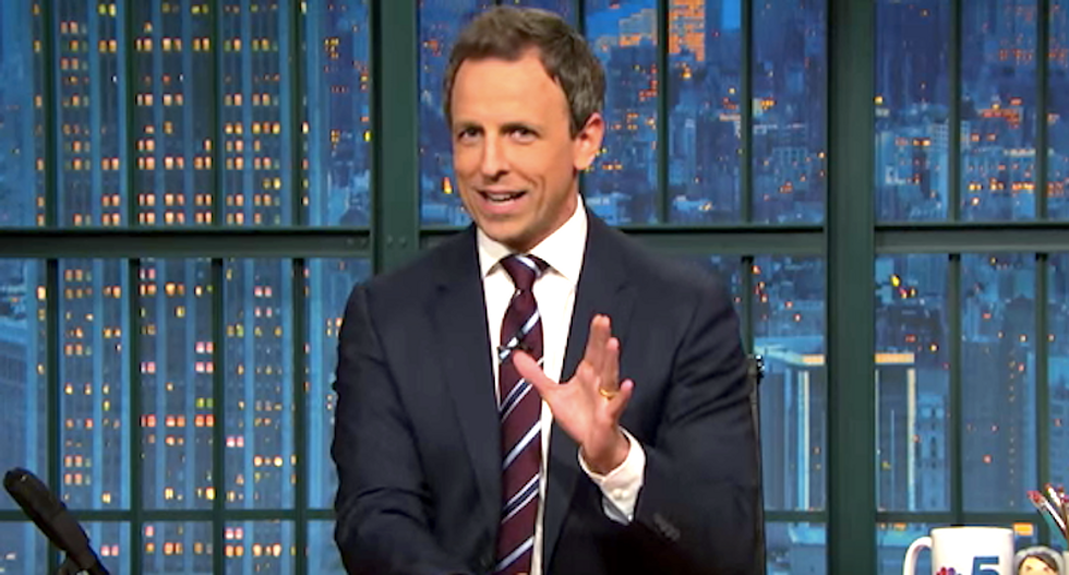 Seth Meyers: Trump backing out of Fox debate sounds like a 12-year-old imitating the movie 'Wall Street'