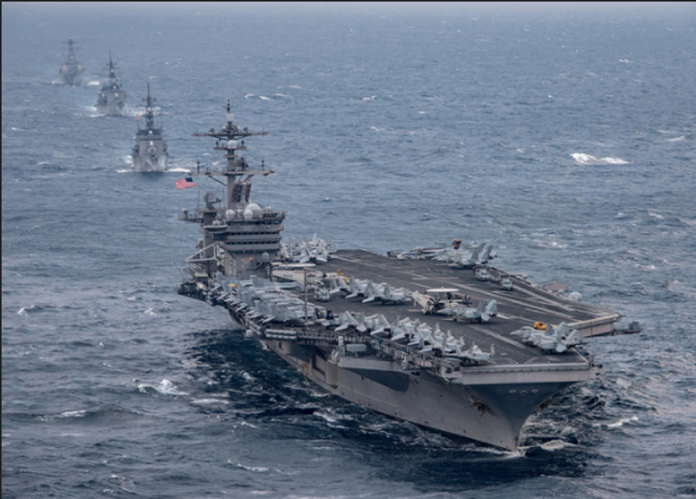 US moves Navy strike group towards the Korean Peninsula