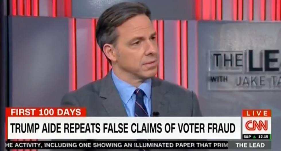 Jake Tapper: Are Trump's voter fraud claims just 'the latest wild conspiracy theory he read on InfoWars?'