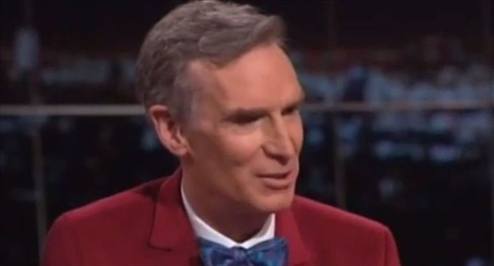 Bill Nye and Bill Maher slam 'feces-throwers and flat-earthers' who still deny climate change