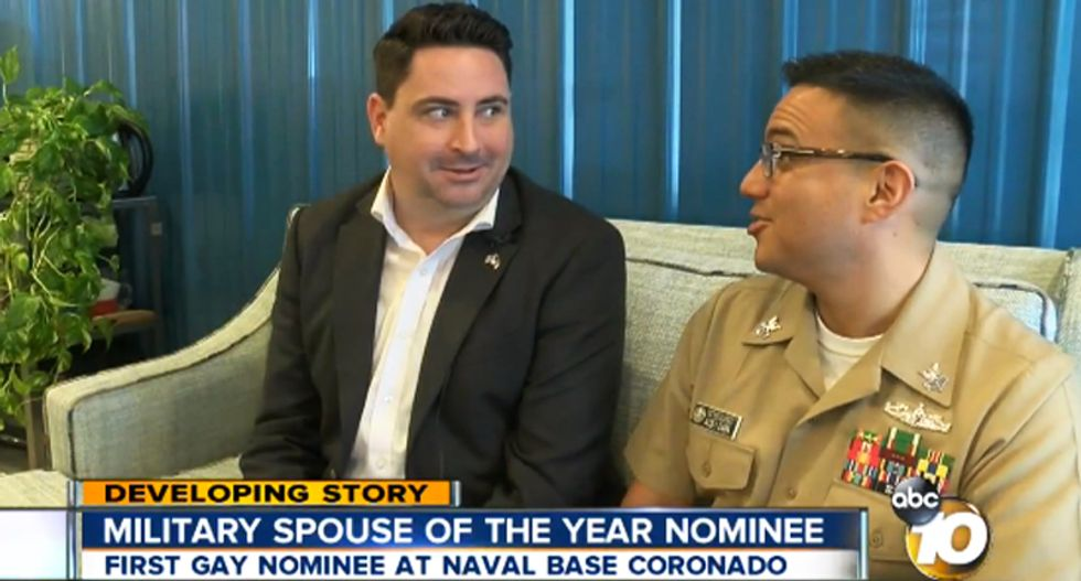 San Diego naval base endorses husband of gay sailor for national 'Military Spouse of the Year'