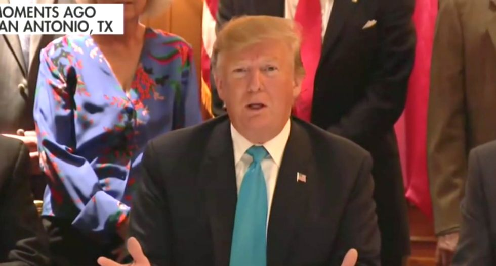Fox News cuts away from press conference as Trump begins rambling incoherently about fences and trucks