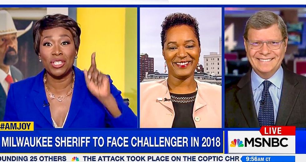 'All hat and no cattle': Joy Reid show hammers Sheriff Clarke for 'wearing uniform as a prop on Fox News'