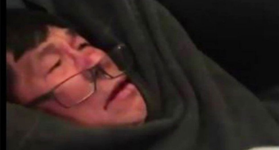 Cop who bloodied United passenger suspended pending 'thorough review of situation'