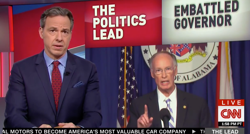 'Good Lord': Jake Tapper gasps after hearing Alabama governor's salacious phone call with former aide