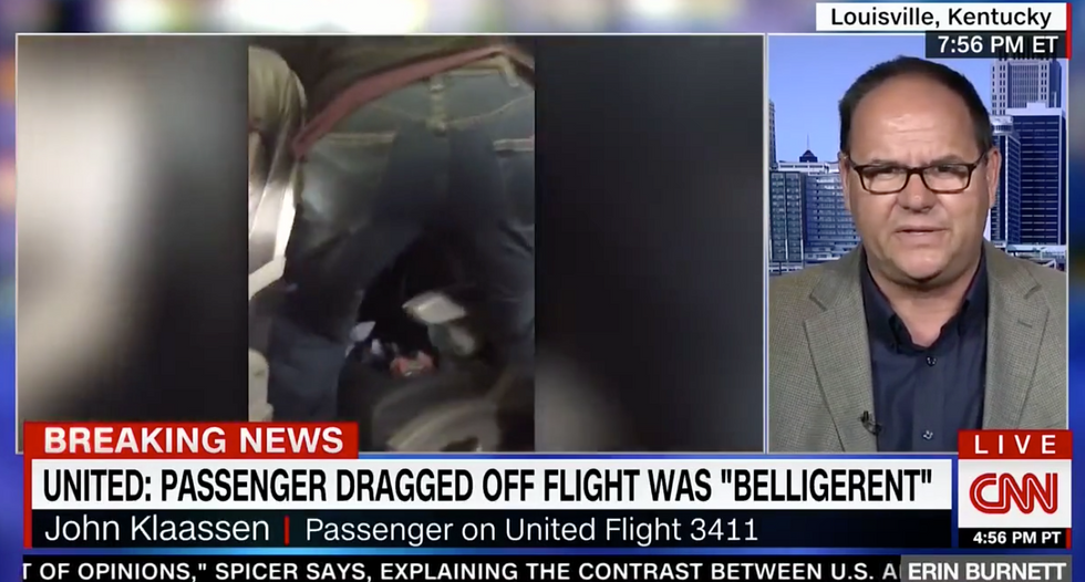 'He was fine just like the rest of us': United flight witness describes brutal removal of screaming passenger