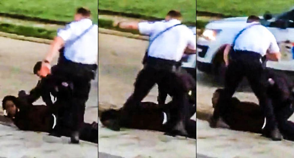 WATCH: Ohio cop caught on camera brutally stomping on suspect's head while he was handcuffed