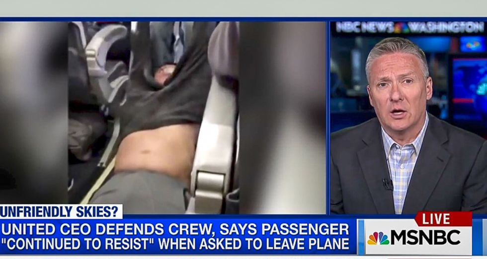 MSNBC scrambles to slime United passenger: 'We're working hard to confirm he had run-ins with the law'