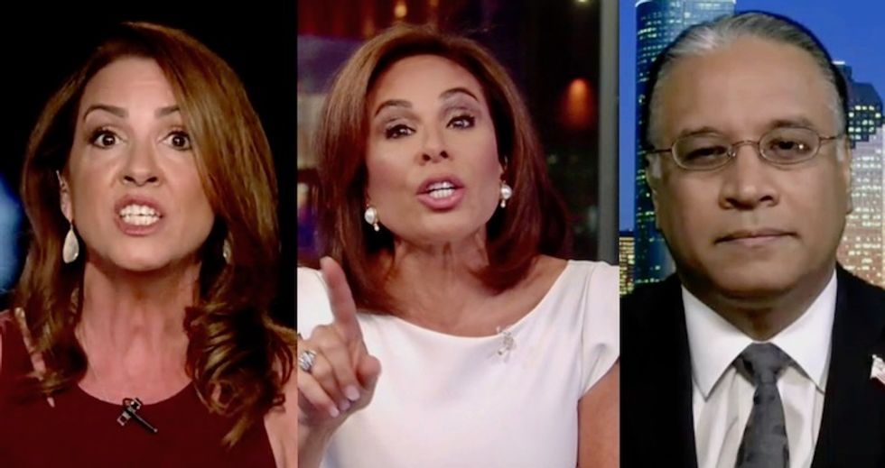 Watch: Jeanine Pirro's Fox News panel explodes into screaming when Democrat repeats basic facts about Russia investigation