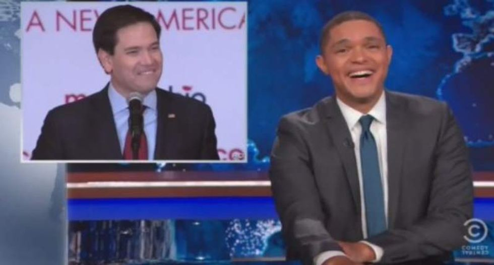 Trevor Noah destroys Marco Rubio's third-place Iowa 'victory speech' -- and it's awesome