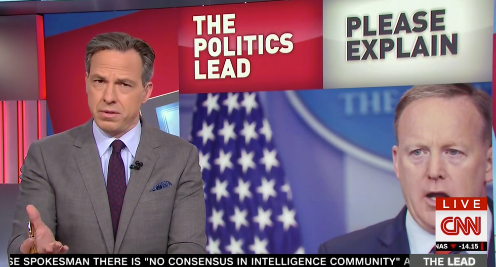 Jake Tapper blasts Sean Spicer's 'false and ignorant' Holocaust revisionism