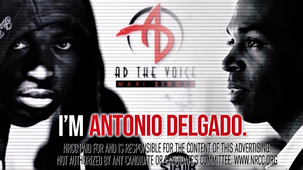 New GOP ad depicts black Rhodes scholar as a street thug because he once recorded a rap album