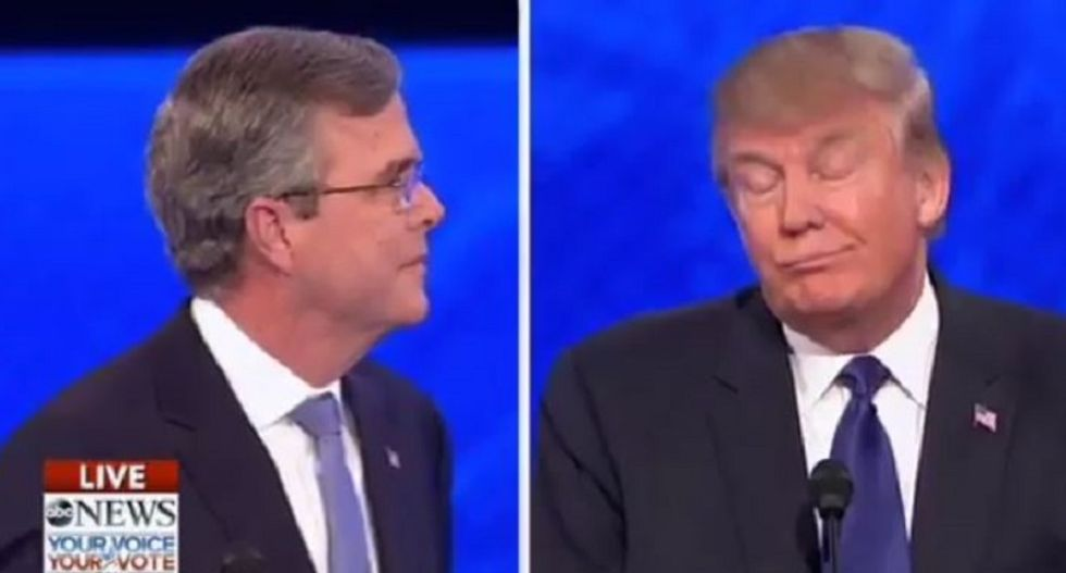 NH #GOPdebate audience boos Donald Trump after he orders Jeb Bush to be quiet