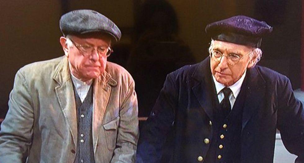 When Bernie met Bernie: Sanders and Larry David discuss socialism in biting SNL skit