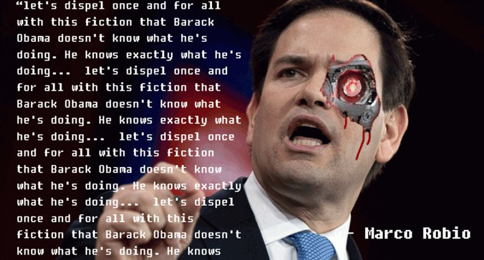 Marco Rubio's disastrous debate performance leads Twitter to conclude he's a 'glitchy' robot