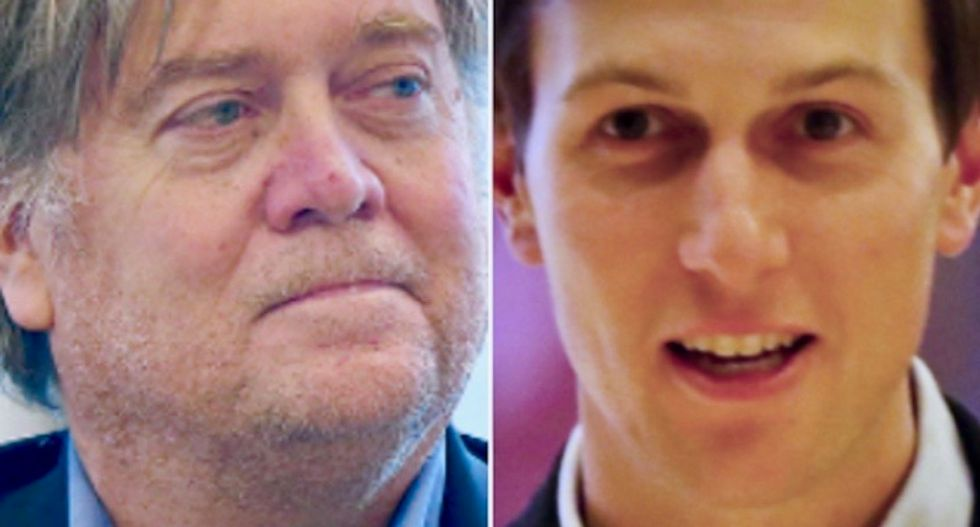 Kushner and Ivanka Trump 'care what beautiful people think' and see Bannon as 'a man with dirty fingernails'