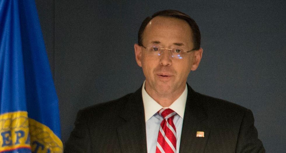 WATCH LIVE: Deputy Attorney General Rod Rosenstein holds press briefing after new Mueller indictments