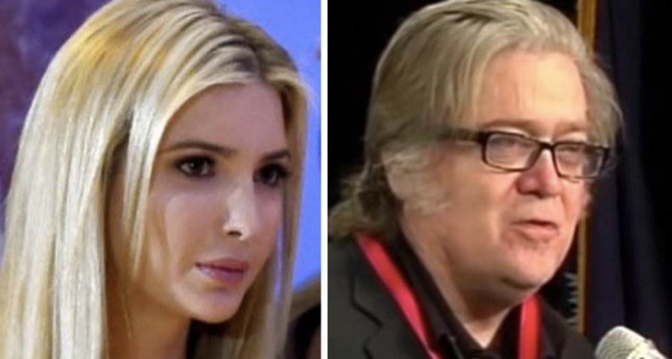 Ivanka Trump is engineering Steve Bannon's White House downfall: report
