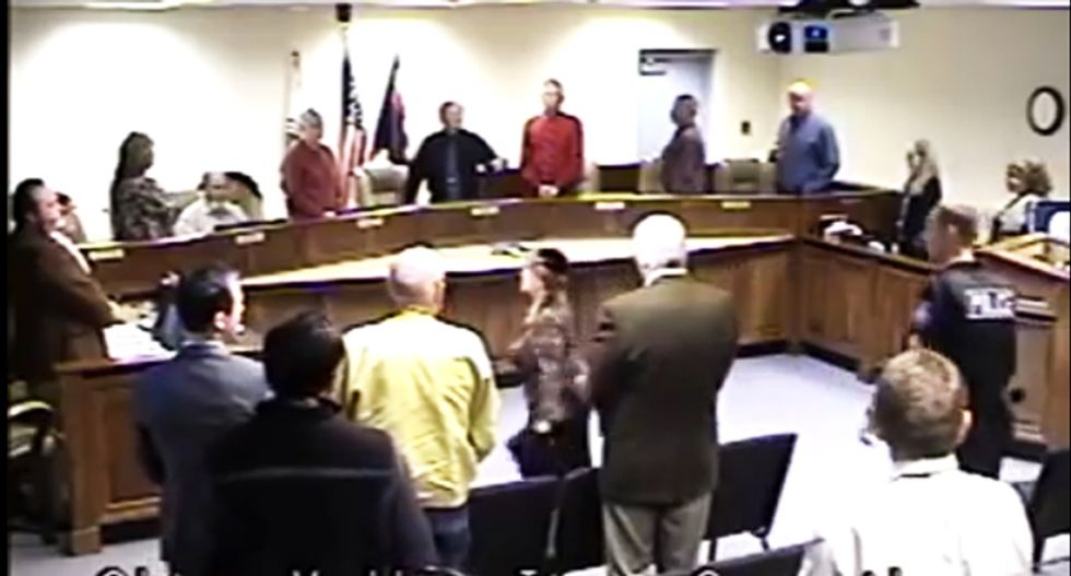 WATCH: Rabbi berates Arizona town council members over Christian prayer -- then gets booted out