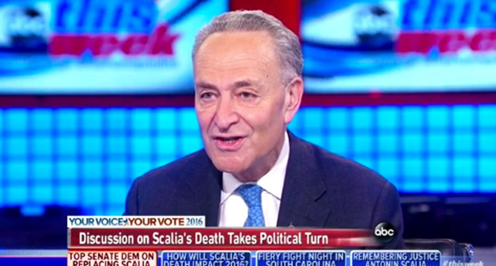 Schumer brilliantly exposes GOP hypocrisy by sending  McConnell his own 2009 confirmation letter