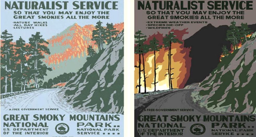 New art series illustrates what climate change will do to our national parks