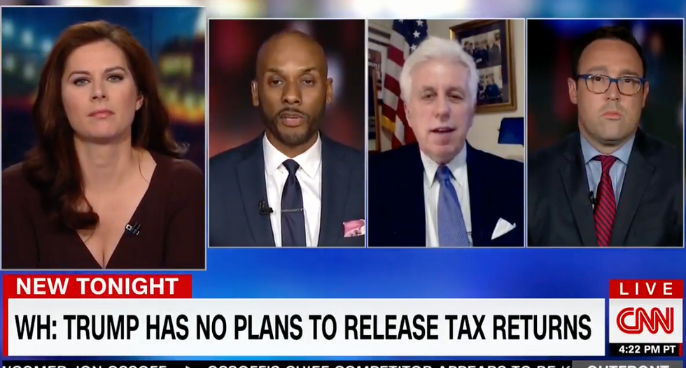 CNN's Keith Boykin scalds Jeffrey Lord for 'asking stupid questions' to avoid discussing Trump's taxes