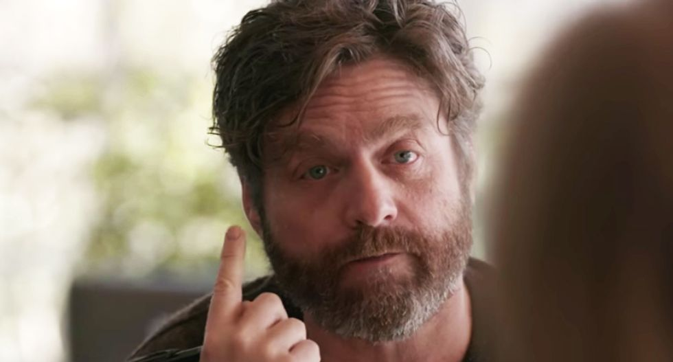 'Wake up!': Comedian Zach Galifianakis gets deadly serious about billionaires' 'dark money' poisoning our politics