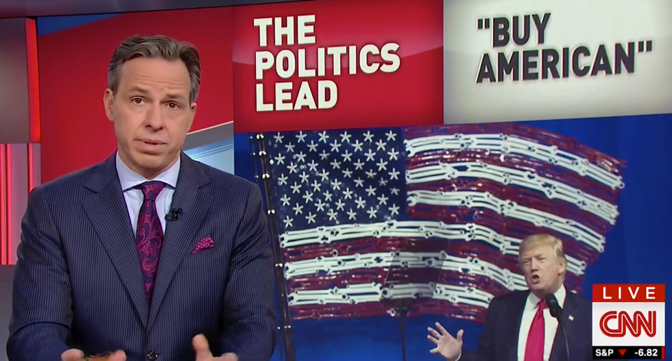 'Does he want me to stop buying his products?': Jake Tapper calls out Trump's 'Buy American' hypocrisy
