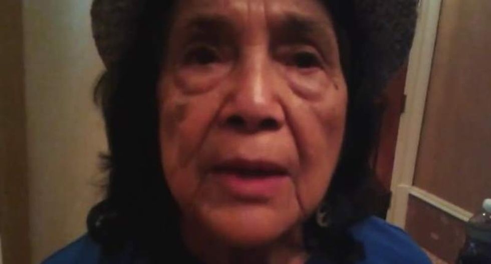 Dolores Huerta: 'I don't feel that Sanders' people respect our community'