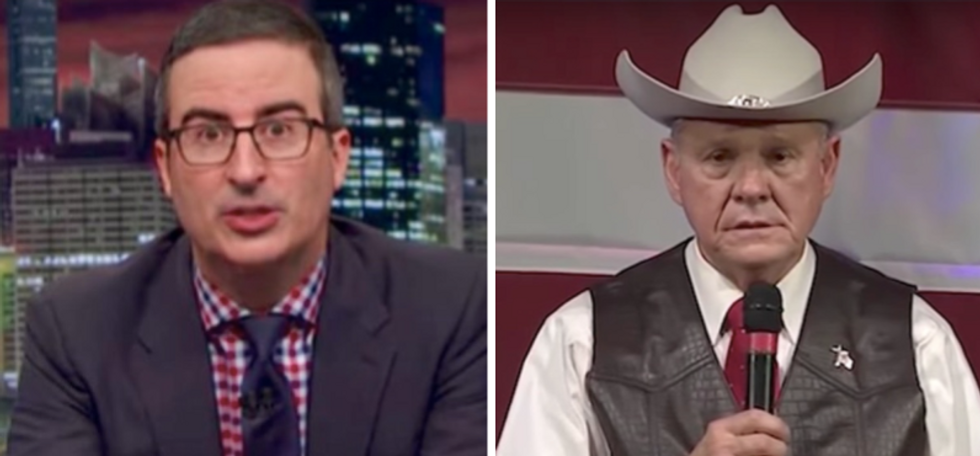 John Oliver compares supporting Alabama's Roy Moore to endorsing 'a swarm of smallpox-infected bees'