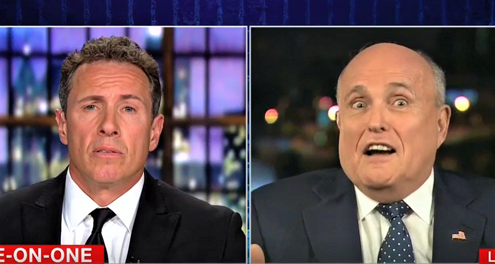 WATCH: CNN's Cuomo corners flailing Rudy Giuliani on White House lies in trainwreck interview