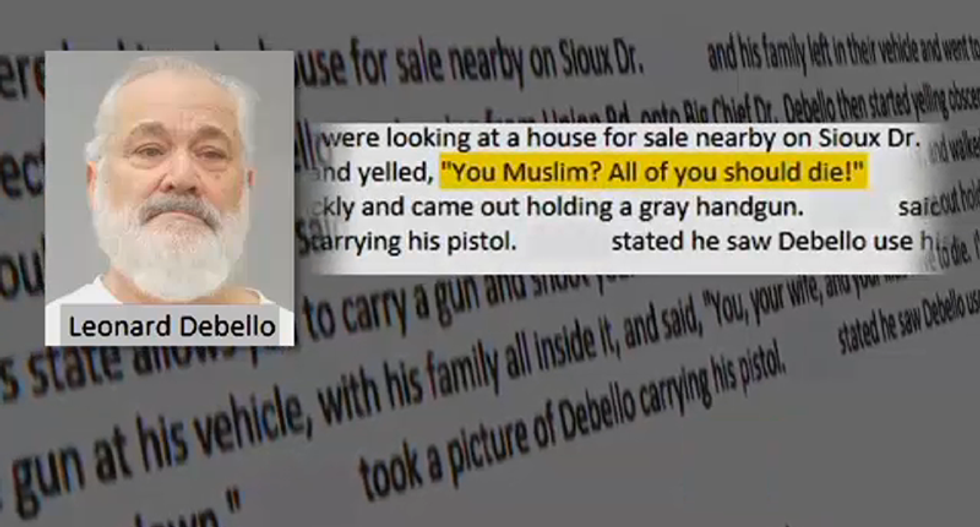 Missouri man threatens Muslim family shouting  'You, your wife and your kids have to die'