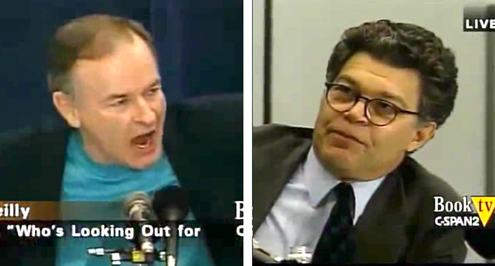 'SHUT UP!': Watch Bill O'Reilly lose it when Al Franken exposes him as a liar during vintage segment