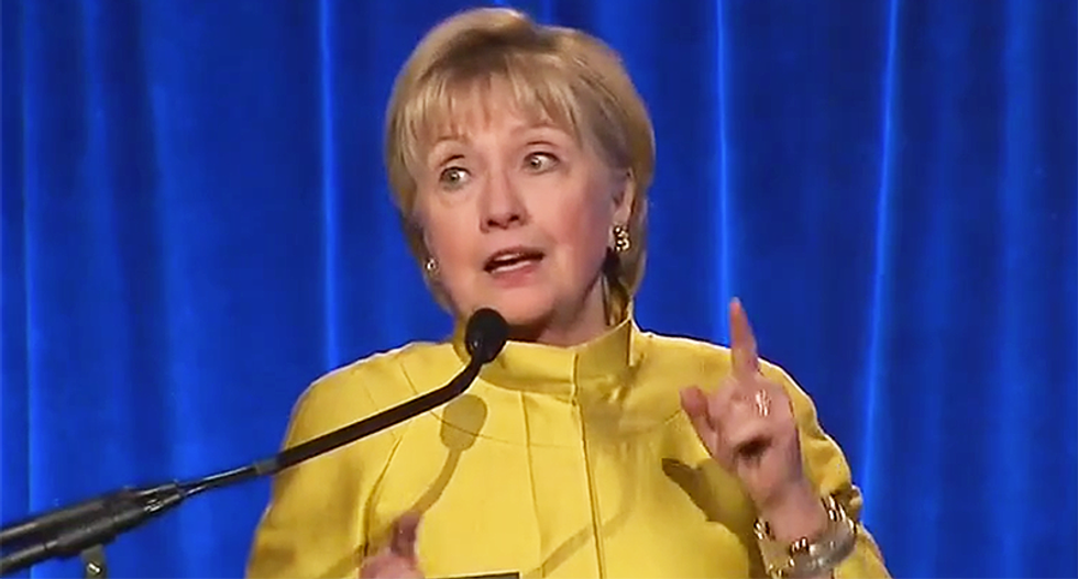 WATCH: Hillary Clinton goes off on Trump's act against transgender students and cuts to HIV/AIDS