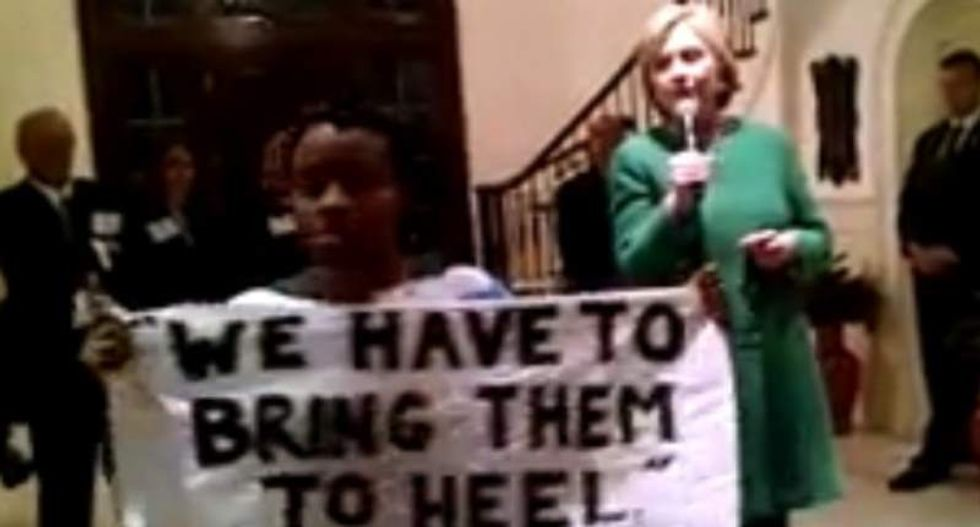 Black Lives Matter activist confronts Clinton over mass incarceration: 'I am not a super-predator'