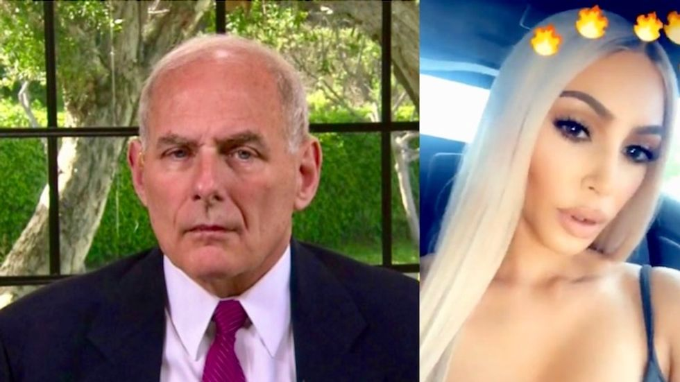 Kim Kardashian and John Kelly are reportedly facing off over whether Trump should pardon a woman serving life in prison for drug possession