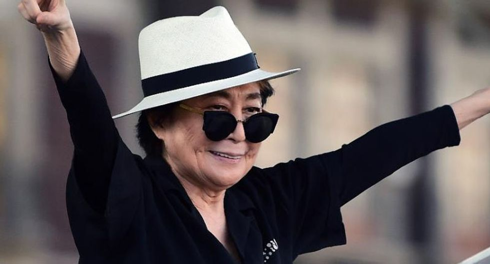 Yoko Ono hospitalized with 'serious flu'
