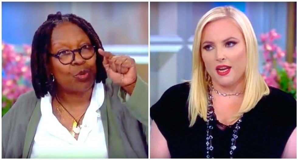 The View hosts repeatedly smack down Meghan McCain when she tries to compare Bill Clinton to Trump