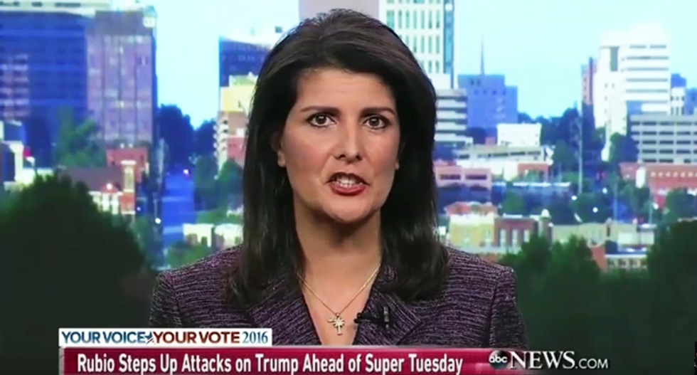 Nikki Haley: Trump's campaign is 'just another project like Trump University and Trump Vodka -- all failures'